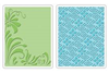 Sizzix Textured Impressions Embossing Folders 2PK - Flowers & Flourish Set 656978 FREE SHIPPING