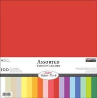 "12""x12"" Scrapbooking CARDSTOCK 100 Sheets 180gsm The Paper Compnay Made in USA COLOR SPECTRUM CARDSTOCK PACK"