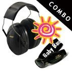 *Peltor Junior Ear Muffs & Banz UV Sunglasses *COMBO* - BLACK