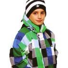 XTM Transit Kids Winter Ski Jacket (Blue/Green Check) 4-6-8 **SALE**