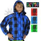 XTM Pixel Transit Kids Ski Jacket (Blue, Red, Green) 4-10 **SALE**
