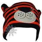 Zoolander Kids Lined Winter Beanie - Tiger (3-10yrs)