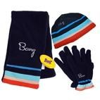 Banz Kids 3pc Winter Set : Beanie, Scarf & Gloves (3-8yrs) Blue