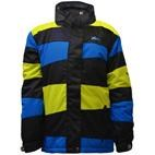 Angle Stripe Kids Ski Snowboard Jacket (Citron/Blue) 4-14