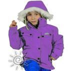 XTM Mika Girls Waterproof Ski Snowboard Jacket (Purple) 2-8 **SALE**