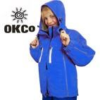 OKco Skoda Kids Waterproof Ski Snowboard Jacket (Blue) 2-12 **SALE**