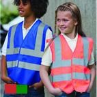 Kids High Visibility (Hi-Vis) Reflective Safety Vest - Coloured