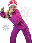 OKco Baby, Tots & Kids One Piece Ski / Snow Suit (Candy Pink) Sizes 2-8
