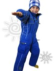 OKco Baby, Tots & Kids One Piece Ski / Snow Suit (Blue) 2-8