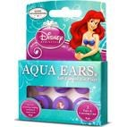 Aqua Ears Disney Little Mermaid Kids Ear Plugs for hearing protection, swimming, bathing - 3 PAIRS