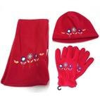 Banz Kids 3pc Winter Set : Beanie, Scarf & Gloves (3-8yrs) Red