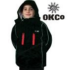 OKco Skoda Kids Waterproof Ski Snowboard Jacket (Black) 2-12 **SALE**