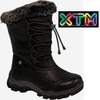 XTM Princess Girls Winter Snow Boots (Black)