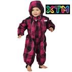 OKco Infant / Baby Papoose One Piece Snow Suit  (Candy Plaid) 0-1