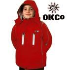 OKco Skoda Kids Waterproof Ski Snowboard Jacket (Red) 2-12 **SALE**