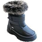 Kisa Kids Girls Winter Snow Boots (Black)