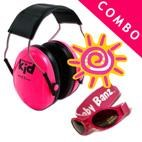 *Peltor Kids Ear Muffs & Banz UV Sunglasses *COMBO* - NEON PINK
