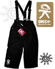 OKco Kids Ski / Snow Pants (Black) 2-12