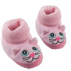 Baby Booties / Slipper Socks by Western Chief Kids (Pink Kitty)