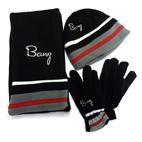 Banz Kids 3pc Winter Set : Beanie, Scarf & Gloves (3-8yrs) Black