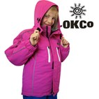 OKco Skoda Girls Waterproof Ski Snowboard Jacket (Candy Pink) 2-12 **SALE**