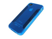 iPhone 4S & iPhone 4 FlexiShield Skin Case / Blue / Plain Pattern New