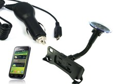 Samsung Galaxy S i9000 Car Upgrade Kit with Goose Neck Suction Mount in-Car Handset Holder and Micro USB Car Charger