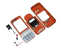 Nokia N73 Mobile Phone Fascia / Cover / Full Housing Set in Orange Colour with FREE keypad Buttons