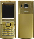 6500 Classic Housing Fascia Set with Black Keypad Buttons - Gold