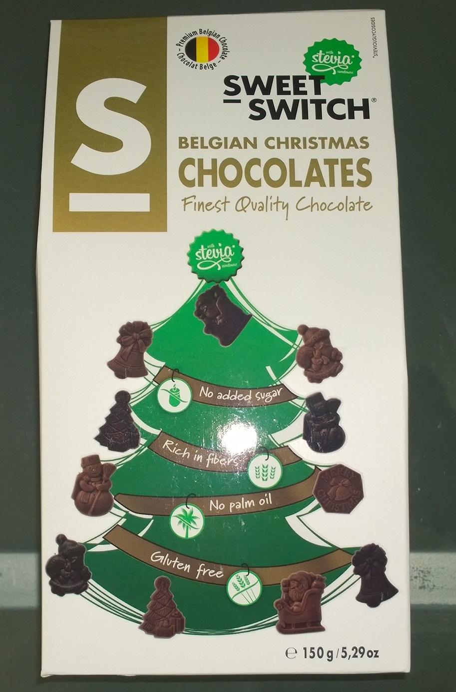 Sweet Switch Sugar Free Belgian chocolate Christmas gift box