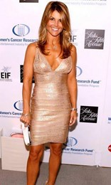 Herve Leger in the style of Lori Loughlin