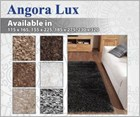 Angora Lux Wool Shaggy Floor Rug Collection