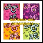 Butterfly Floor Rugs - Plush Soft Pile