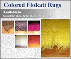 Colored 100% Pure Wool Flokati Rug