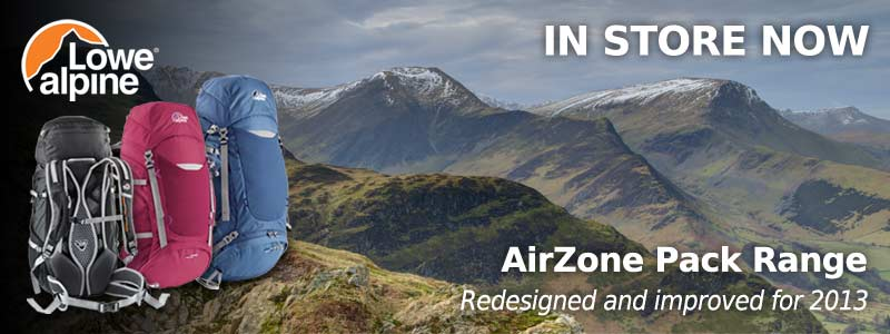 Lowe Alpine AirZone Packs available at Kelly's Basecamp