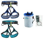 Petzl - Adjama / Luna Basic Climbing Package (Adjama or Luna harness, Bandi Chalk bag and 25g Petzl chalk powder)