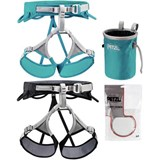 Petzl - Adjama / Luna Harness Basic Climbing Package Includes Bandi Chalk Bag, 25g Power Crunch Chalk (2013)