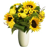 Bright Yellow Mixed Flowers, From $55