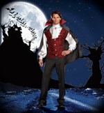 Mens Fang Bangin Fun Vampire Costume