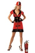 Darque Female Firefighter Costume