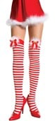 White & Red Christmas Stockings