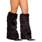 Black Fluffy Boot Covers