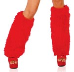 Red Fluffy Boot Covers
