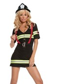 Ms Blazin Hot Firewoman Costume & Hat