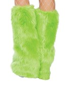 Lime Fluffy Boot Covers