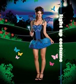 Blue Butterfly Beauty Light Up Costume