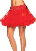 Red Layered Full Tulle Petticoat