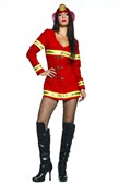 Red Hot Firefighter Girl Costume