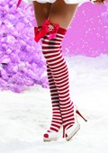Rudolf Bow Stockings