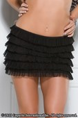 Black Ruffles Mini Skirt
